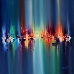 Blue Harbour VI by Philip Gray -  sized 30x30 inches. Available from Whitewall Galleries
